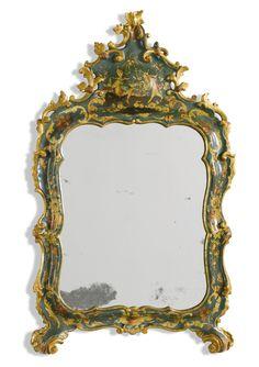 An Italian greenlacquer and giltwood mirror Venetian, circa 1760 | lot | Sotheby's