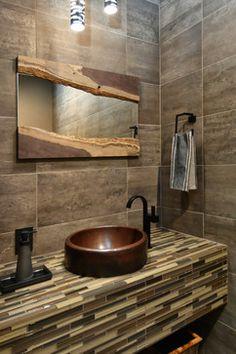 interior design orange county - Bayside - contemporary - Powder oom - Orange ounty - Megan ...