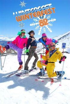 Winterfest 82 ! Ski vintage tout en couleur :)