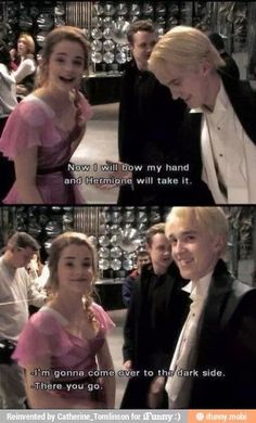 Tom and Emma :') I think i actually just ship them together not dramione but they're just so adorable