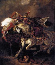 Eugène Delacroix, Combat of the Giaour and the Pasha, 1835, Oil on canvas, 74 x 60 cm, Musée du Petit Palais, Paris