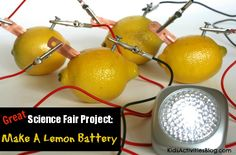 How to Make a Lemon Battery. Pretty cool, if I have time to do this one day with my kid!