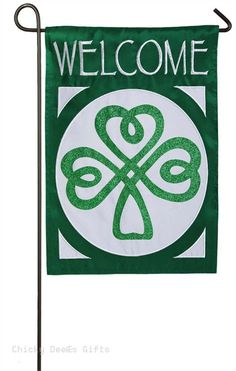Evergreen Applique Garden Flag Celtic St. Patrick's Day Irish Welcome 168493