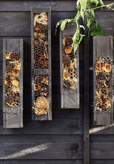 The Top Garden Trends 2019 - Whats Hot in Your Garden<br> Whats hot for the garden trends 2019 - what will we all be designing and creating in our gardens this season. Grow your own, insect hote Garden Bugs, Garden Deco, Garden Art, Garden Design, Bug Hotel, Olive Garden, Back Gardens, Garden Styles, Garden Furniture