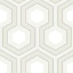 Papier peint géométrique gris Hicks' Grand - Cole and Son - Au fil des Couleurs