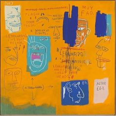 Jean-Michel Basquiat, Untitled (Leonardo and his Five Grotesque Heads), 1983