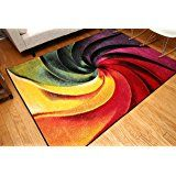 Amazon.com: Feraghan/Radiance Collection Art Contemporary Collection Modern Lines Gradient Wool Area Rug, 8' x 10', Yellow/Blue/Orange/Purple: Kitchen & Dining