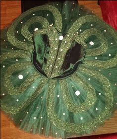 Emerald Green and Silver Platter Tutu by DollyTutu on Etsy, $329.00