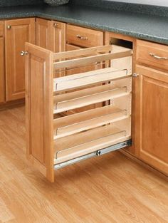 Rev A Shelf 448 Series Wide Pull Out Base Organizer With Full E Natural Wood Cabinet Organizers Shelves