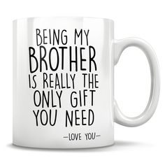 Big brother gifts big brother mug worlds best brother mug birthday gift idea gift from little brother or sister christmas gift idea Big Brother Gifts, Christmas Gifts For Brother, Gifts For Fiance, Brother Birthday Gifts, Christmas Presents, Christmas Ideas, Dad Gifts, Grandparent Gifts, Christmas Sale