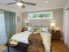 long horizontal window over bed - Google Search