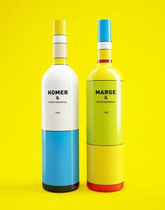 Mondrian-Simpsons wine bottles