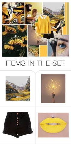 """Hufflepuff"" by fangirl182 ❤ liked on Polyvore featuring art and vintage"
