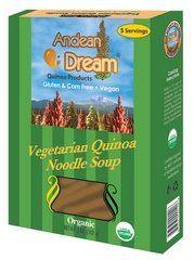 Andean Dream Organic Vegetarian Quinoa Noodle Soup, 5 Ounce -- 6 per case. - http://goodvibeorganics.com/andean-dream-organic-vegetarian-quinoa-noodle-soup-5-ounce-6-per-case/