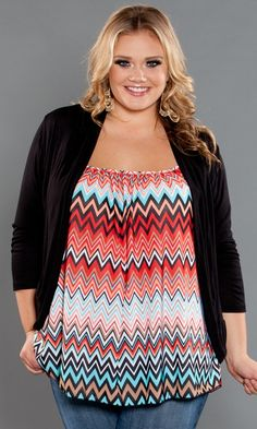 Your essential plus size camisole with tummy-concealing style in beautiful Chevron Prints! This is THE ultimate camisole created on demand from our staff who wanted an easy-to-wear layering camisole that wasn't skin tight!