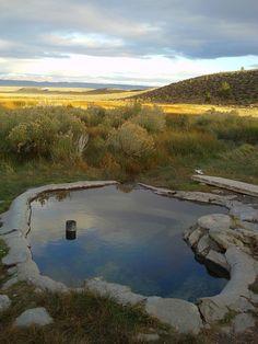 Little Hot Springs. Long Valley Caldera