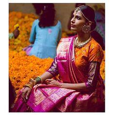 Regal Threads  ; follow us on snapchat @vanitybyg  #makeup #muah #hairstyle #model #fashion #tamil #wedding #beauty #wakeupandmakeup #the6ix #anastasiabeverlyhills #manishmalhotra #torontomakeupartist #motd #sabyasachi #saree #toronto #makeupjunkie #couture #desi #glam #hdr  #girls #love #inspo #beautyblogger #tamilgirl #silksaree #kancheepuram