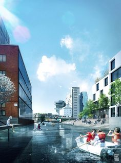 danish architects cobe, in collaboration with sleth modernism, polyform and ramboll, are currently developing the largest urban transformation project in scandinavia. Architecture Visualization, Landscape Architecture, Landscape Design, Transformation Project, Commercial Architecture, Master Plan, New City, Under Construction, Graphic Illustration