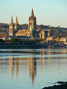 Truro Cathedral from Boscawen Park, Cornwall. Photo by Tim Green aka atoach Truro Cornwall, Devon And Cornwall, Cornwall England, Truro Cathedral, Great Britain United Kingdom, St Just, Church Architecture, England And Scotland, Viajes