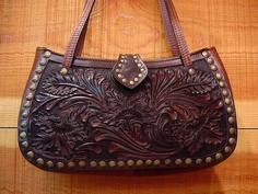 Leather Handbag-Celtic Leather Handbag-Tooled Leather Handbag ...