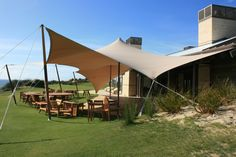 Stretch Tent Awning.  For semi permanent flexible outdoor cover - www.stretchstructures.com