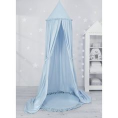 Sweet baby baldachin szett elegant (párna nélkül) - kék Ruffle Pillow, Baby Nest, Hiding Places, Blue Pillows, Cot, Bassinet, Canopy, Decorative Pillows, Toddler Bed