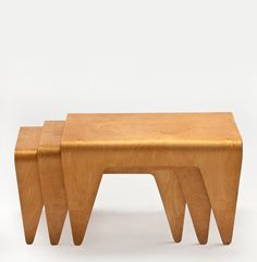Marcel Breuer, Nest Of Tables, 1936. Beech Plywood. For Isokon Furniture  Company