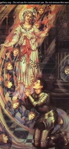 Our Lady of Peace by Evelyn De Morgan. ~via WikiGallery.org