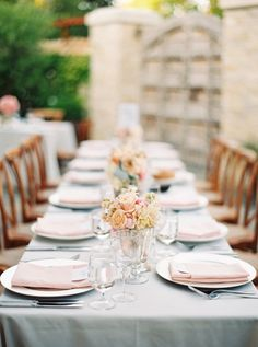 gray linens, mercury glass, and light pink