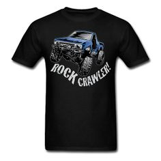 Men's Toyota Truck shirt. $16.00 on our website @ http://offroadstyles.spreadshirt.com/cool-blue-rock-crawling-truck-A13085268/customize/color/2