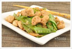 Chicken with Snow Peas: Try our delicious versions of these dishes at Sacramento, CA's Hing's Chinese Restaurant: http://hingsmadison.com/