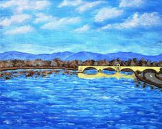 Brightscapes: The Way To Beauty  Rhône River at Avignon https://www.etsy.com/listing/232785261/rhone-river-at-avignon-original-acrylic  On the left bank of the Rhône River nestles the city of Avignon. A slight bend in the river that has been a destination for the Greeks, Romans, Popes, and countless others. And the Pont d'Avignon (the Pont Saint-Bénézet) is the last of many bridges trying to reach the other side. Previous attempts have been destroyed in war, ruined by floods, or doomed to…