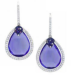 Tanzanite Briolette Drop Earrings #jewelry #finejewelry #earrings #diamonds #tanzanite #luxury #MartinKatz #MartinKatzJewels