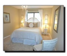 Simple white Guest Bedroom ideas