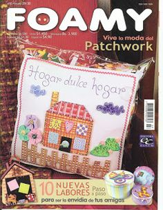 revista de patchwork con foamy
