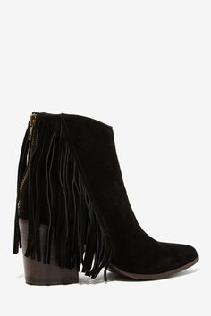 Steve Madden Country Suede Fringe Bootie | Shop What's New at Nasty Gal