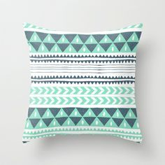Winter Stripe Throw Pillow by Alice Rebecca Potter - $20.00