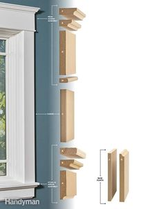 Installing Window Trim the Easy Way: MDF Trim Molding Low cost. Assemble the parts, then just nail them up! Is this the world's easiest trim? Craftsman Window Trim, Interior Window Trim, Diy Exterior Window Molding, Mdf Trim, Moldings And Trim, Trim Carpentry, Door Molding, Crown Molding, Moulding