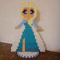 Elsa Frozen perler beads by rainbow_ironed