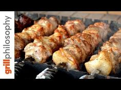 Pork spit-roast (kontosouvli) that I'm grilling in this video differs in salting. As you may know, the salting of meat a few hours before grilling stiffens t. Adana Kebab Recipe, Kebab Recipes, Grilling Recipes, Homemade Gyro Recipe, Pork Skewers, Kebabs, Burger Patty Recipe, Roasted Chicken And Potatoes