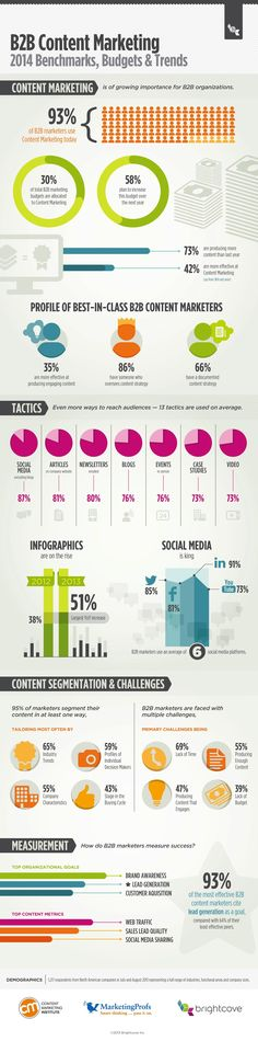 2014 B2B Content Marketing Report #infographic  http://socialmediab2b.com/2013/10/b2b-content-marketing-survey-2014/