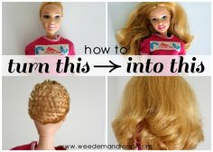 How to Fix ruined Barbie hair