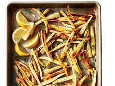 If you're not familiar with parsnips, try these quick recipes to acquaint yourself with them. The root veggies look like white carrots and have a decidedly sweet, earthy flavor. Shop for medium to small parsnips, as larger ones tend to have tough, woody cores. In the main recipe here, a hit of fresh lemon juice and sprinkling of fresh herbs make the whole dish taste fresh and bright. If you don't have parsley on hand, you can leave it out, but do seek out the dill.View Recipe: Roasted…