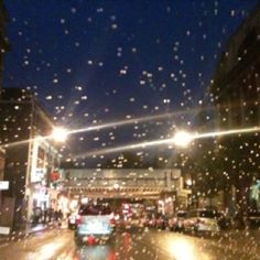 Central London on a gloomy night