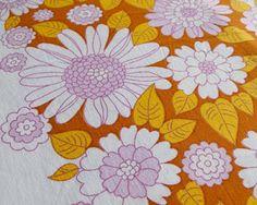 Vintage Retro floral patterned material