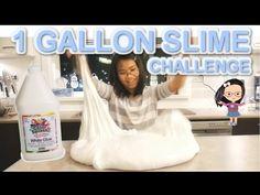 1-GALLON GLUE GIANT SLIME CHALLENGE   Huge Fluffy Slime - YouTube