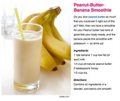 Peanut-Butter Banana Smoothie just add chocolate syrup and tastes like smoothie kings peanut-butter chocolate banana smoothie!