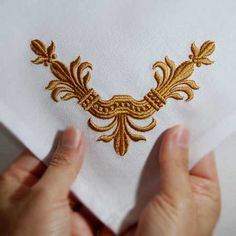 fleur de lis, embroidery, exquisite embroidery, old world embroidery