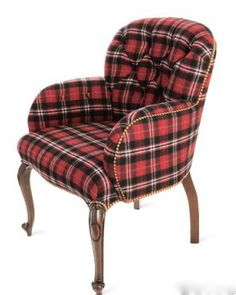Indian Cove Lodge armchair by Ralph Lauren Home covered in Bayberry tartan wool also by Ralph Lauren - RL, I believe is the undisputed king of chic tartan!