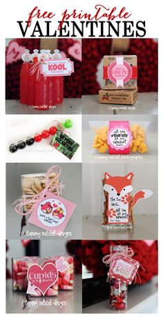 Free Printable Valentine Round-Up - Creative Ideas for Handmade Valentines